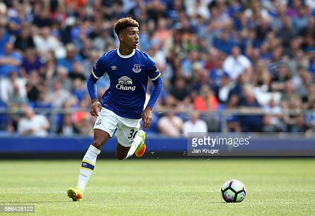 Mason Holgate of Everton in action during the preseason friendly match between Everton and Espanyol at Goodison Park on August 6 2016 in Liverpool...