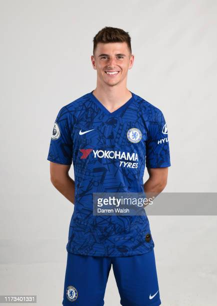 Mason Mount of Chelsea during the media open day at Chelsea Training Ground on July 29 2019 in Cobham England