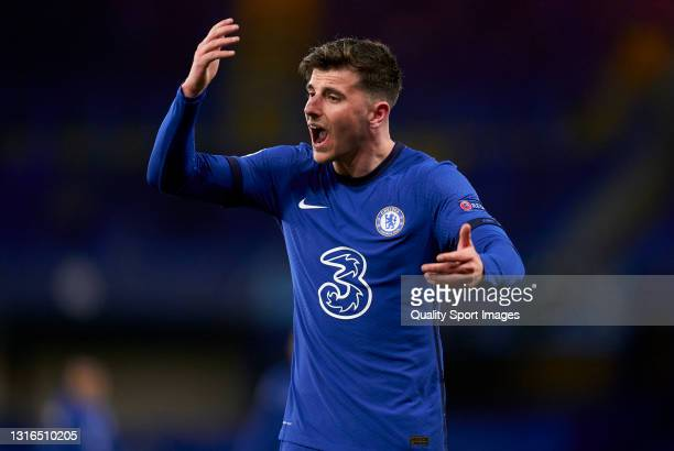 Mason Mount of Chelsea FC reacts during the UEFA Champions League Semi Final Second Leg match between Chelsea FC and Real Madrid at Stamford Bridge...
