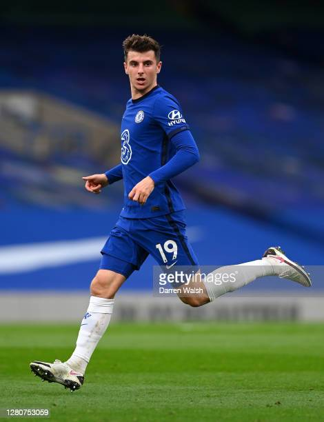 Mason Mount of Chelsea in action during the Premier League match between Chelsea and Southampton at Stamford Bridge on October 17 2020 in London...