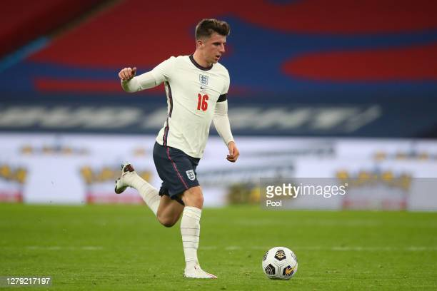 Mason Mount of England in action during the international friendly match between England and Wales at Wembley Stadium on October 08, 2020 in London,...