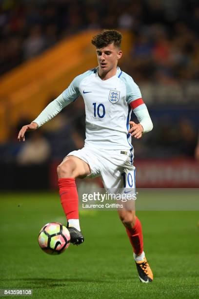 Mason Mount of England in action during the International match between England and Germany at One Call Stadium on September 5 2017 in Mansfield...
