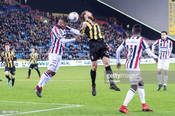 Mason Mount of Vitesse Darryl Lachman of Willem II Guram Kashia of Vitesse Fernando Lewis of Willem II Thom Haye of Willem II during the Dutch...