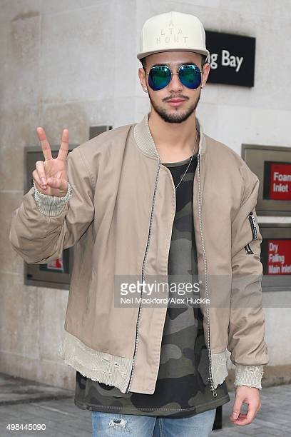 Mason Noise from X Factor seen at BBC Radio One on November 23 2015 in London England