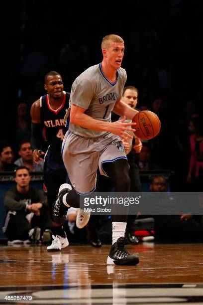 Mason Plumlee of the Brooklyn Nets in action against the Atlanta Hawks at Barclays Center on April 11 2014 in New York City NOTE TO USER User...