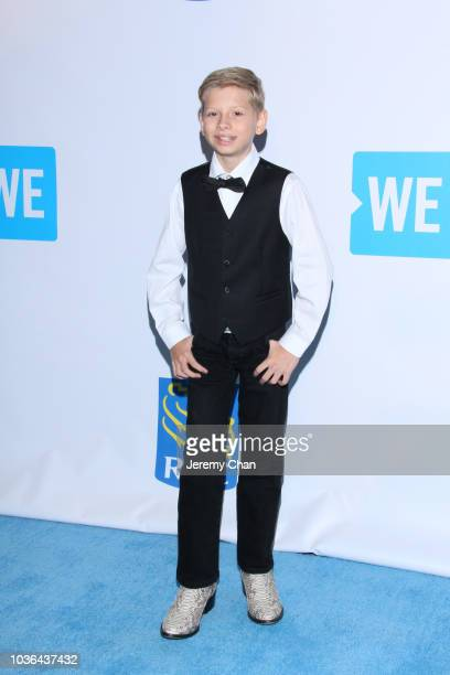 Mason Ramsey arrives to WE Day Toronto and the WE Carpet at Scotiabank Arena on September 20 2018 in Toronto Canada