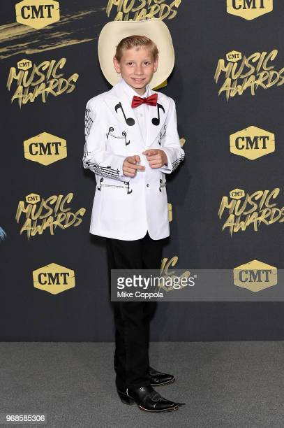 Mason Ramsey attends the 2018 CMT Music Awards at Bridgestone Arena on June 6 2018 in Nashville Tennessee
