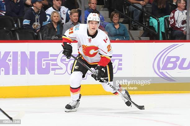 Mason Raymond of the Calgary Flames skates against the Colorado Avalanche at the Pepsi Center on November 3 2015 in Denver Colorado