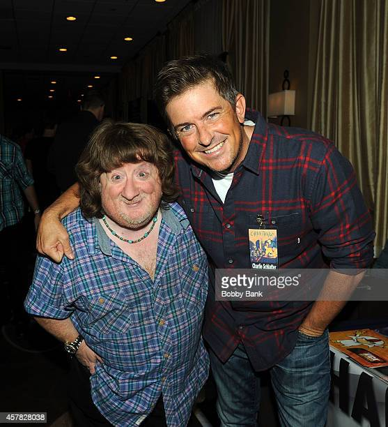 Mason Reese and Charlie Schlatter attends Day 1 of the Chiller Theatre Expo at Sheraton Parsippany Hotel on October 24 2014 in Parsippany New Jersey