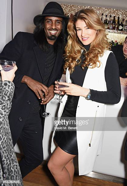 Mason Smillie and Amy Willerton attend a cocktail party hosted by haircare brand John Frieda to celebrate the launch of their 2015 products at Oxo...