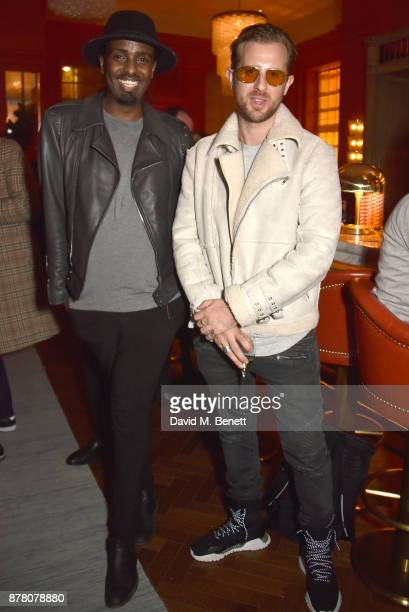 Mason Smillie and Cameron Edwards attend the The Bloomsbury Hotel relaunch party on November 23 2017 in London England