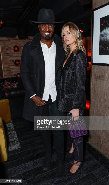 Mason Smillie and Charli Fisher at his birthday party at Kadie's on November 21 2018 in London England