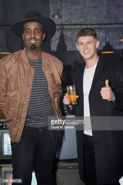 Mason Smillie and Danny Blake attend the Marques' Almeida x 7 For All Mankind launch party on November 15 2018 in London England