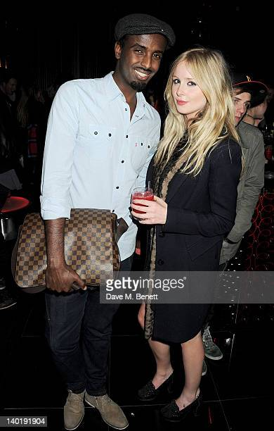 Mason Smillie and Diana Vickers attend the Wyld Bar NME Awards after party at W London Leicester Square on February 29 2012 in London England