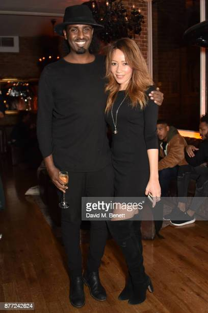 Mason Smillie and KimMichelle Timpson attend Mason Smillie's birthday party at McQueen on November 21 2017 in London England