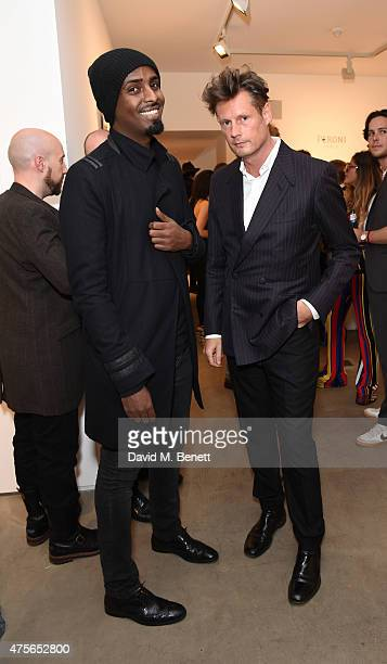 Mason Smillie and Percy Parker attends the Maison Mais Non launch party as Micheal Neeson launches fashion gallery in Soho>> on June 2 2015 in London...