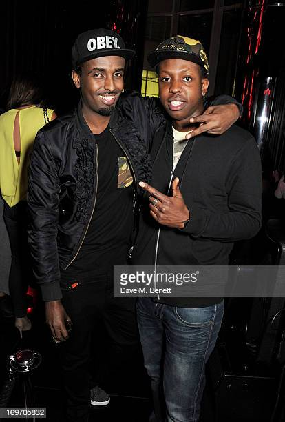 Mason Smillie and Vas J Morgan attend Vinyl Live in association with Hardware LDN in the Wyld bar at W London Leicester Square on May 30 2013 in...