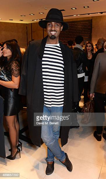 Mason Smillie attends as Naomi Campbell launches the Fashion For Relief PopUp at The Village Westfield London on November 27 2014 in London England...