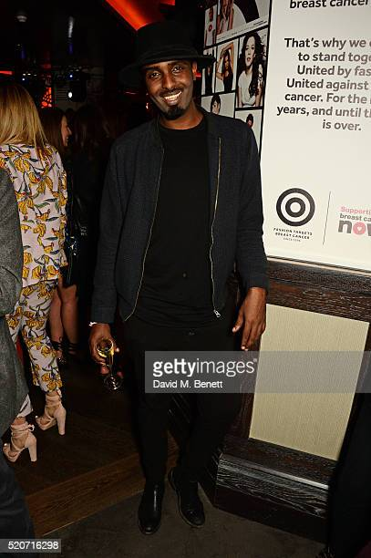 Mason Smillie attends Fashion Targets Breast Cancer's 20th Anniversary Party at 100 Wardour St on April 12 2016 in London England