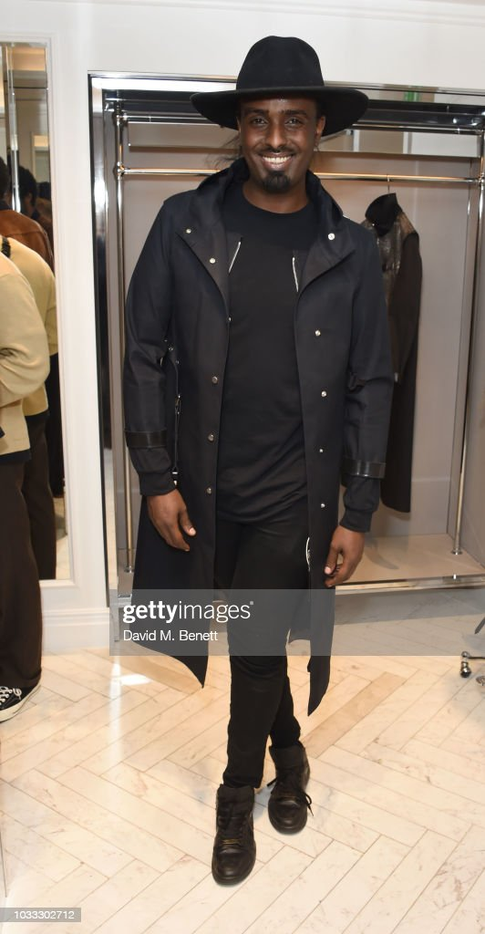 Mason Smillie attends the launch of the Nick Knight x Alyx Mackintosh limited edition coat during London Fashion Week September 2018 at the Mackintosh boutique on September 14, 2018 in London, England.