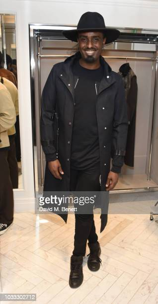Mason Smillie attends the launch of the Nick Knight x Alyx Mackintosh limited edition coat during London Fashion Week September 2018 at the...