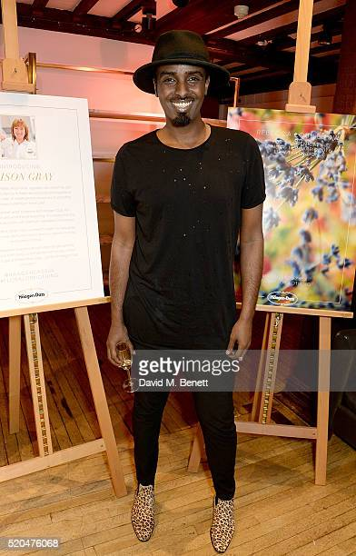 Mason Smillie attends the Liberty x HaagenDazs launch party at Liberty on April 11 2016 in London England
