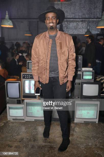 Mason Smillie attends the Marques' Almeida x 7 For All Mankind launch party on November 15 2018 in London England