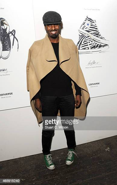 Mason Smillie attends the 'Meet Me In The Future Later' a night curated by Kevin Morosky and CONVERSE on March 11 2015 in London England
