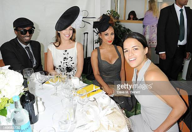 Mason Smillie Kelly Brook Preeya Kalidas and Michelle Rodriguez attend Ladies Day at Glorious Goodwood held at Goodwood Racecourse on August 2 2012...