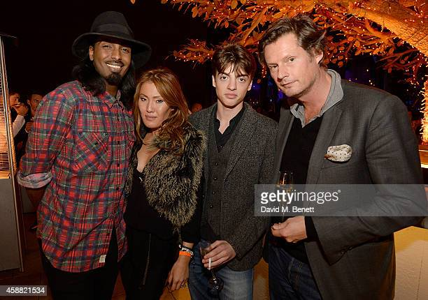 Mason Smillie Mimi Nishikawa Sascha Bailey and Percy Parker attend as Sushisamba celebrates its second anniversary with a performance by Lily Allen...