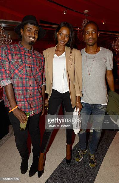 Mason Smillie Sigail Currie and Emmanuel Ezugwu attend as Sushisamba celebrates its second anniversary with a performance by Lily Allen and a VIP...