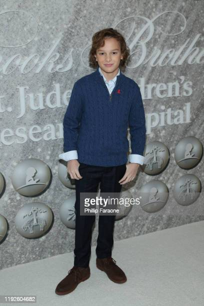 Mason Thames attends Brooks Brothers Annual Holiday Celebration To Benefit St Jude at The West Hollywood EDITION on December 07 2019 in West...
