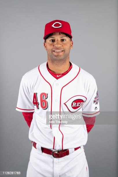Mason Williams of the Cincinnati Reds poses during Photo Day on Tuesday February 19 2019 at Goodyear Ballpark in Goodyear Arizona