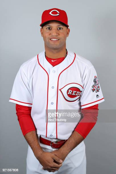 Mason Williams of the Cincinnati Reds poses during Photo Day on Tuesday February 20 2018 at Goodyear Ballpark in Goodyear Arizona