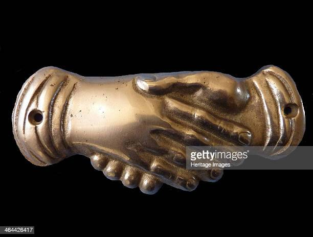Masonic handshake Symbol End of 19th cen From a private collection