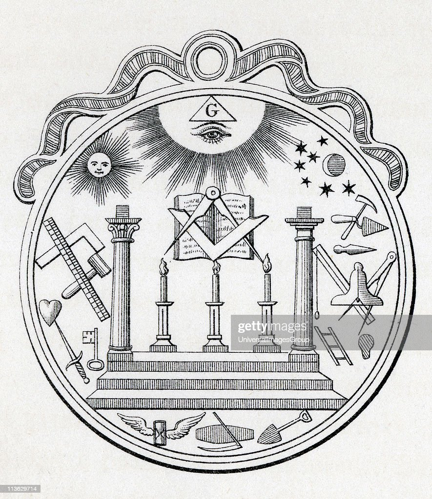 Masonic Seal Engraving from the book The History of