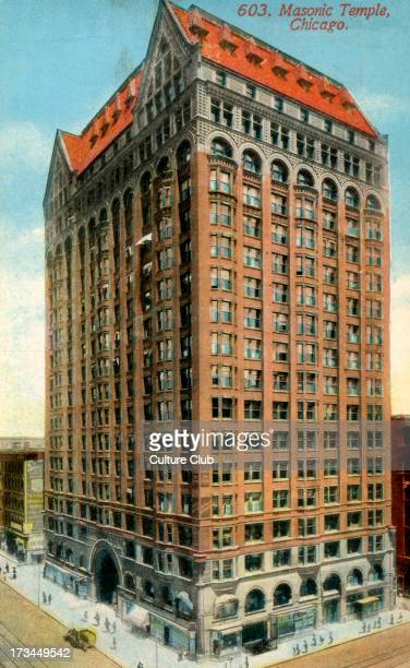 Masonic Temple, Chicago, US. Designed by the firm of Burnham and Root and constructed 1891–1892. Demolished in 1939.