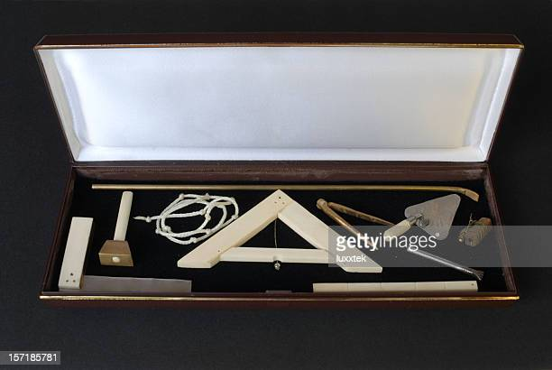 masonic toolkit - freemasons stock pictures, royalty-free photos & images