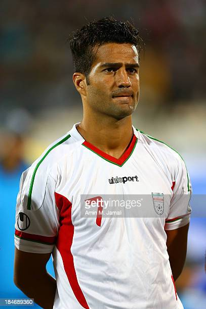 Masoud Shojaei during AFC Asian Cup Qualifiers between Iran and Thailand at Azadi Stadium Tehran Iran on October 15 2013 in Tehran Iran