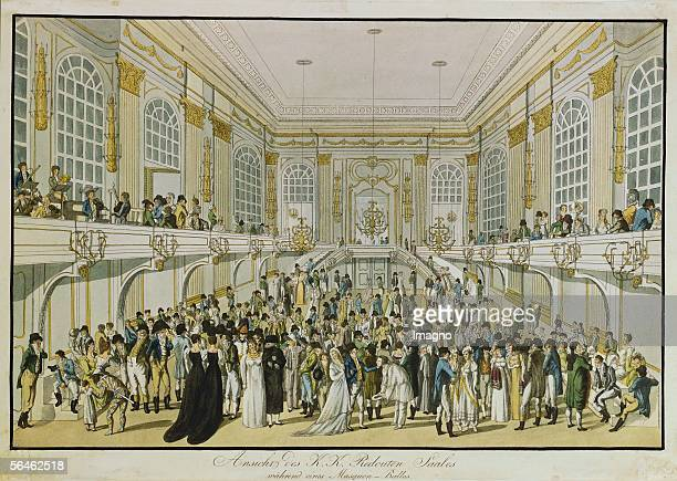 Masqued Ball in the Redoutensaal on occasion of the Congress of Vienna with performance of Beethoven's Seventh Symphony and his composition...