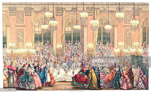 A Masquerade Ball Illustration from 18th Century Institutions Usages And Costumes France 17001789 by Paul Lacroix