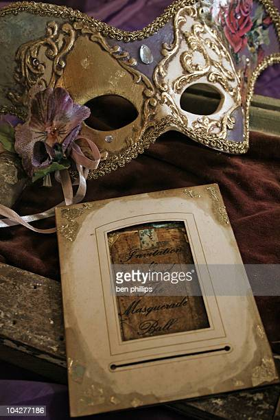 Masquerade Ball mask & invitation