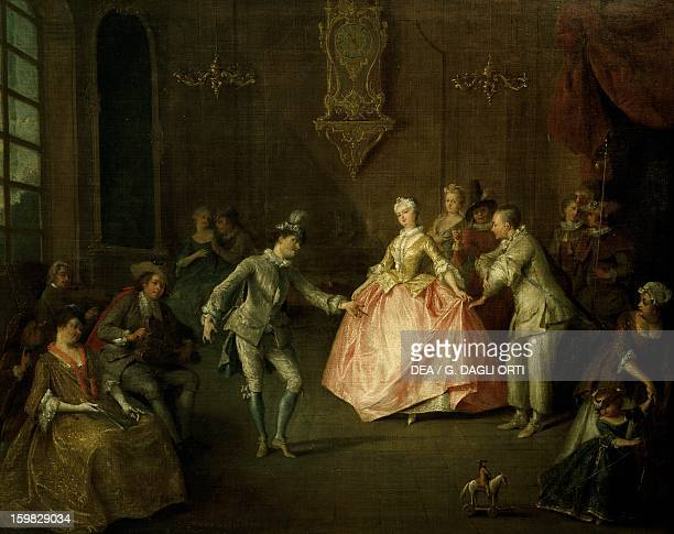 Masquerade ball oil on canvas school of Nicolas Lancret France 18th century Nantes Musée Des BeauxArts De Nantes