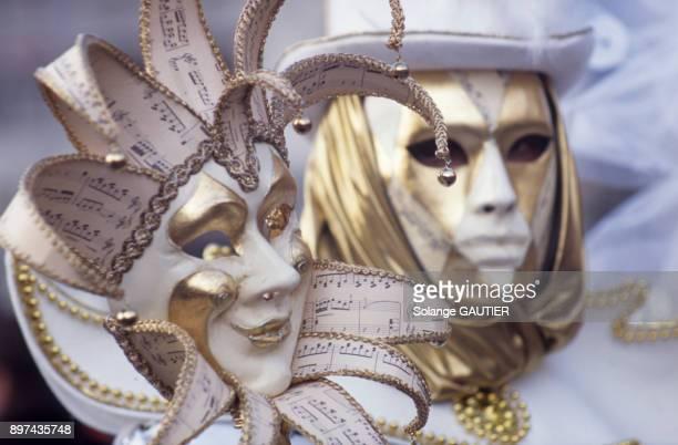 Masques du carnaval de Venise en fevrier 2002 Italie