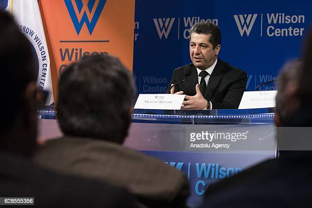 Masrour Barzani, Chancellor of the Iraqi Kurdish Region Security Council, speaks about Governance and Security in a Post - DAESH Iraq at the Woodrow...