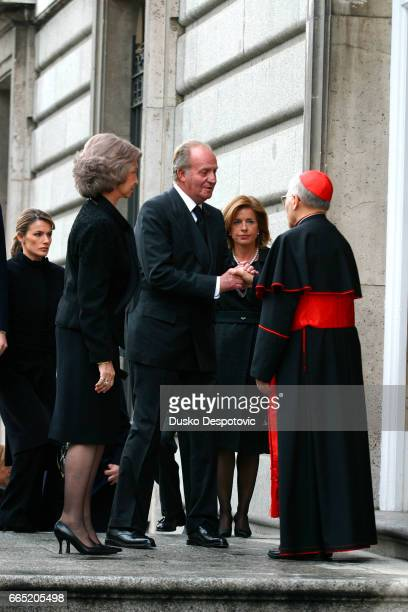 Mass at Almudena cathedral in Madrid in memory of the 202 victims of the March 11 bombing King Juan Carlos and Queen Sofia   Location Madrid Spain