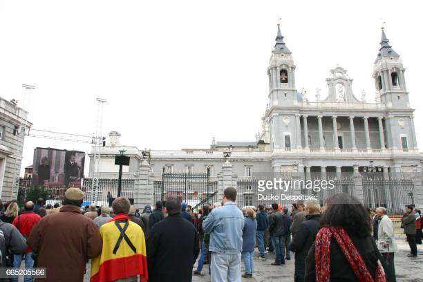 Mass at Almudena cathedral in Madrid in memory of the 202 victims of the March 11 bombing   Location Madrid Spain