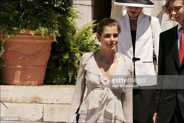 Mass at Monaco Cathedral the resting place of Prince Rainier and Princess Grace Princess Charlotte in Monaco on May 11 2005
