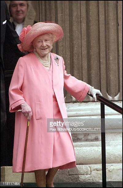 Mass celebrated at St Paul's cathedral in honour of the 100th birthday of Queen Mother in London United Kingdom on July 11 2000 Queen mother