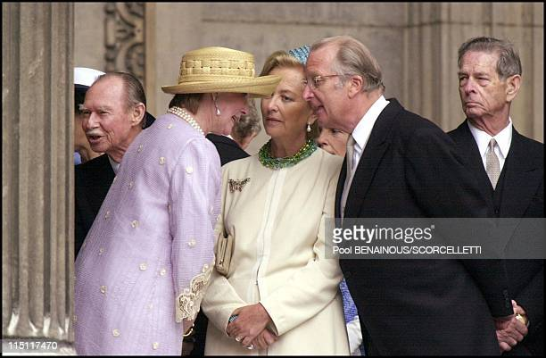 Mass celebrated at St Paul's cathedral in honour of the 100th birthday of Queen Mother in London United Kingdom on July 11 2000 Grand Duke of...